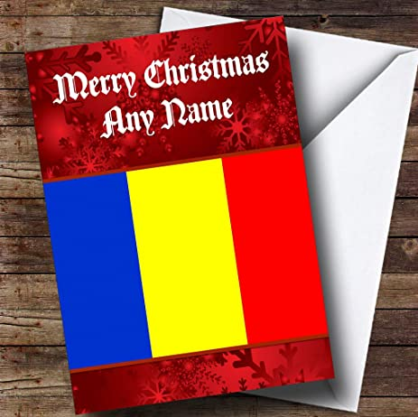 Amazon romanian flag romania personalized christmas holiday romanian flag romania personalized christmas holiday greetings card m4hsunfo