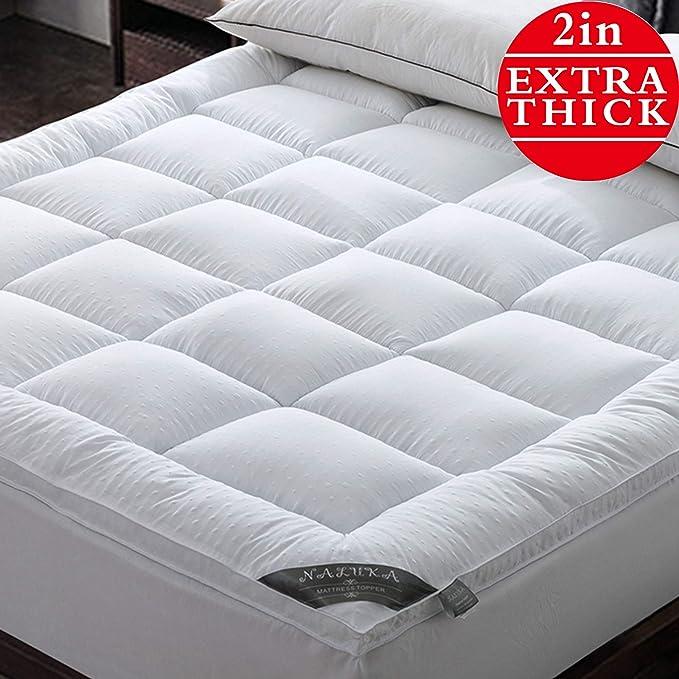 Naluka Mattress Topper King Pillow Top Mattress Cover 3D Bubble
