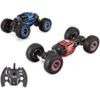 Amitasha Dual Sided One Key Deformation RC Rock Crawler Monster Truck Off-Road Toy for Kids