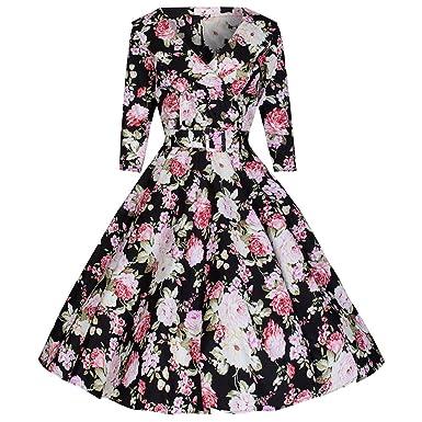 Kleid schwarz rosa blumen