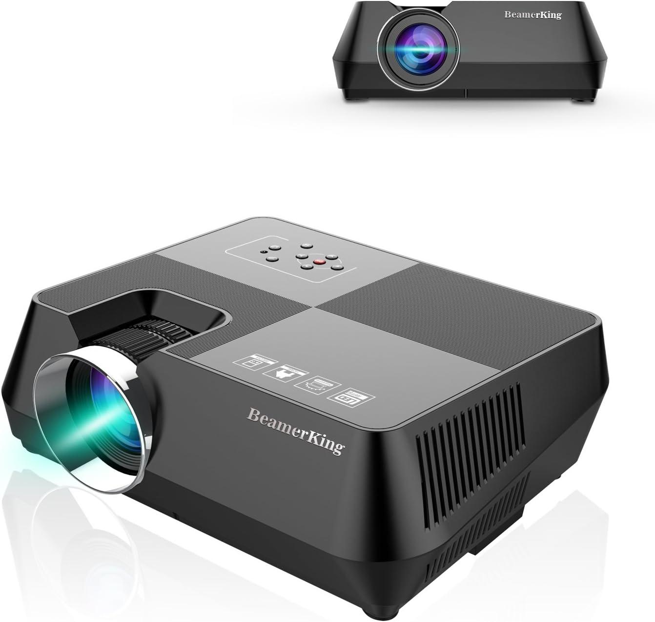 Proyector Portátil, BeamerKing GTS8A Actualizado +20% Lúmenes LED ...
