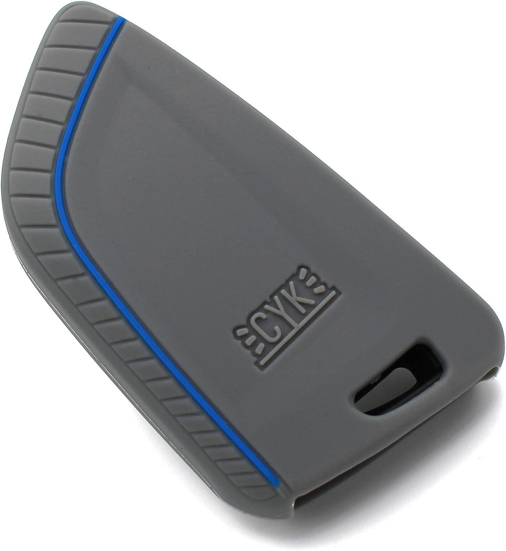 Llave M/óvil BD para 3/Botones Llave de Coche Silicona Cover de Finest de Folia Aschgrau Blau