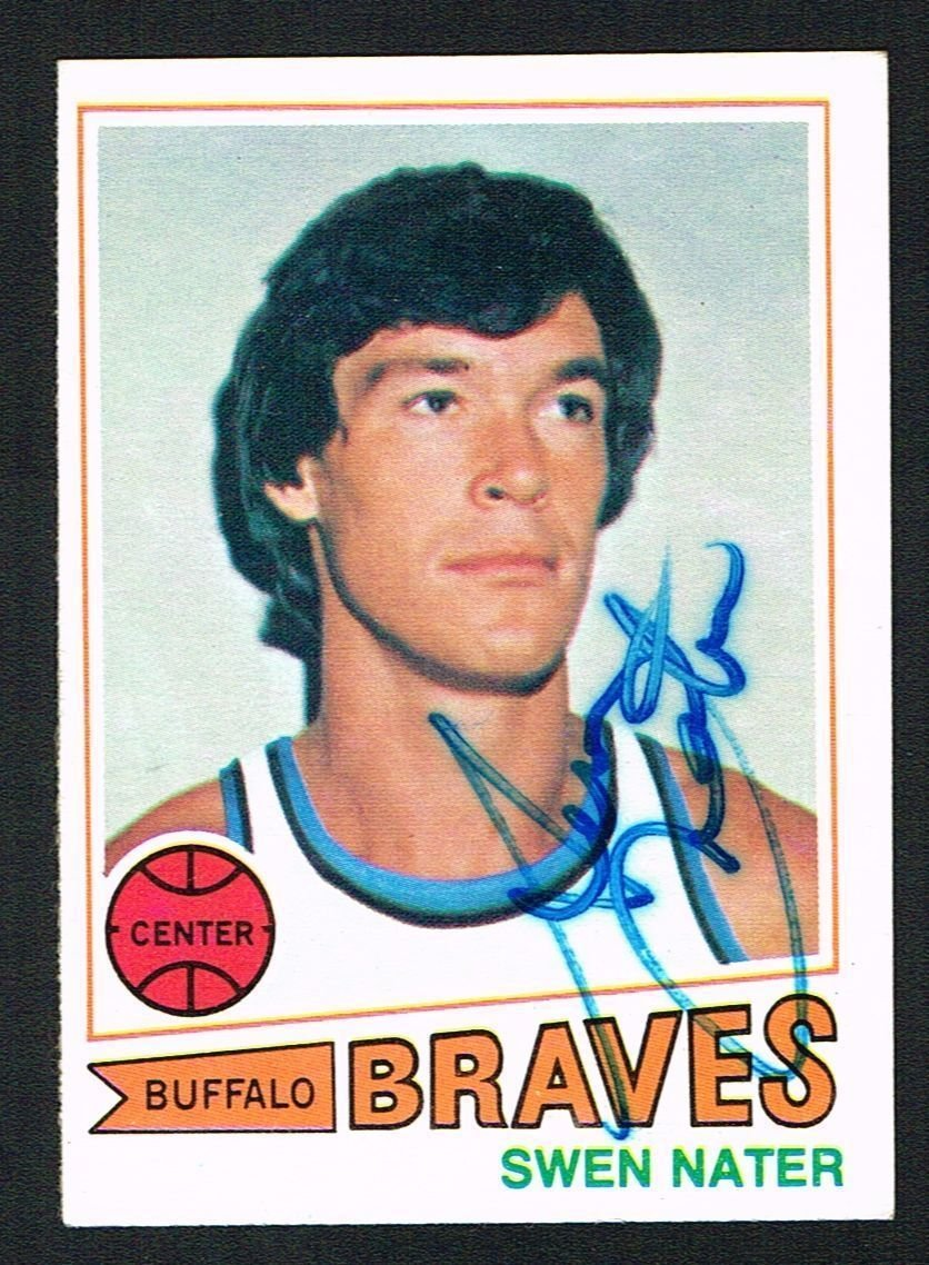Swen Nater 92 signed autograph auto 1977 78 Topps Basketball