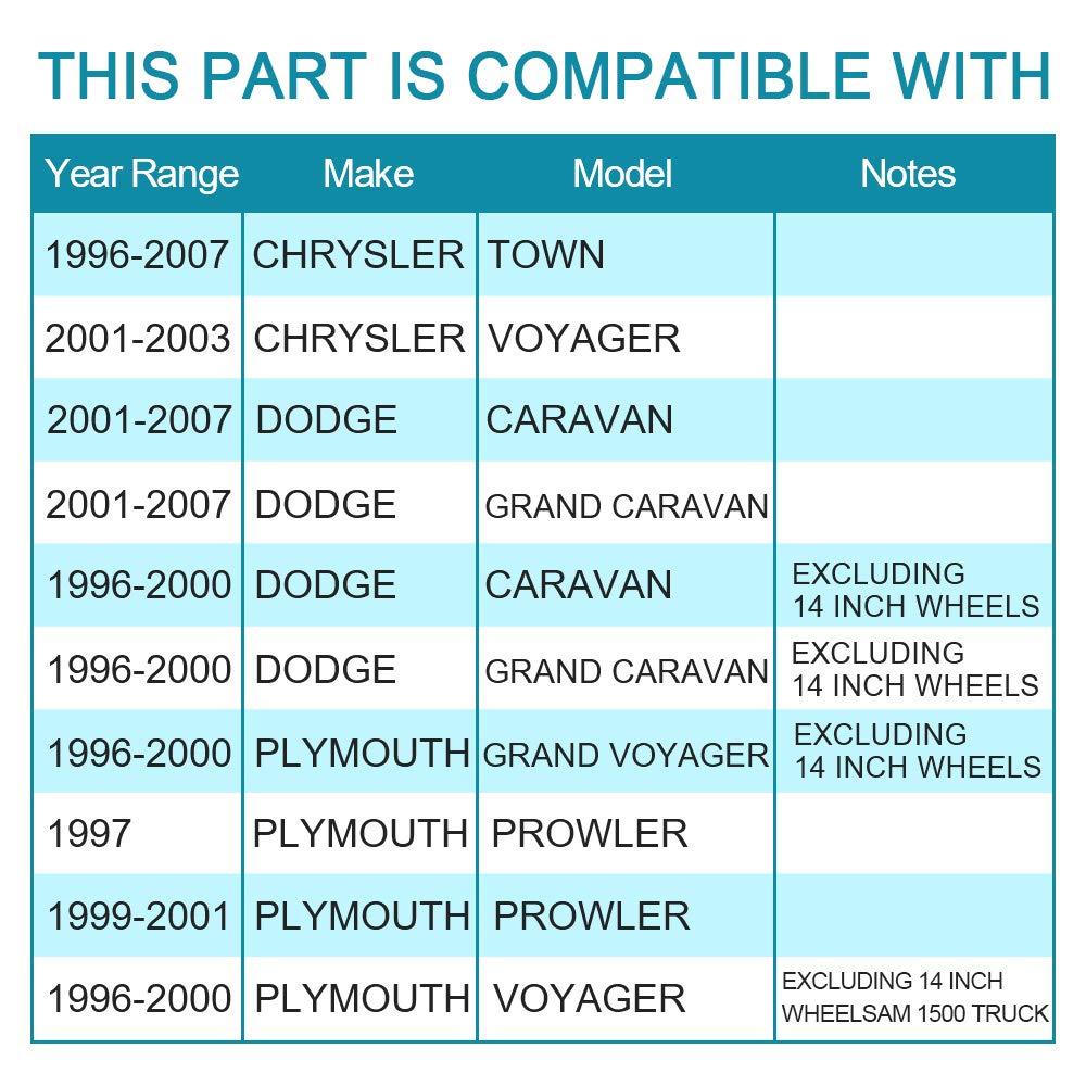 1 PCS IRONTEK 513123 Front Left and Right Wheel Hub and Bearing Set for 1996-2007 Chrysler 1996-2007 Dodge Caravan /& Grand Caravan 1996-2001 Plymouth