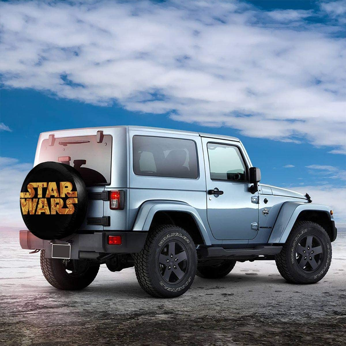 Adsfghrehr Spare Tire Cover Waterproof Dust-Proof Universal Spare Wheel Tire Cover Star Wars