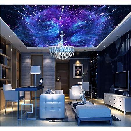 Weaeo Custom Space 3d Ceiling Wallpaper For Hall Living Room