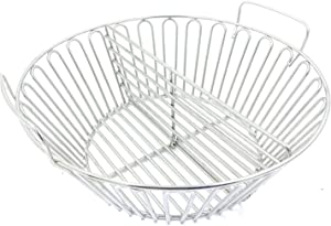 ZBXFCSH 13.5'' Charcoal Ash Basket Fits for Large Big Green Egg Grill, Kamado Joe Classic, Pit Boss, Louisiana Grills,Primo Kamado Grill and Other Grills.