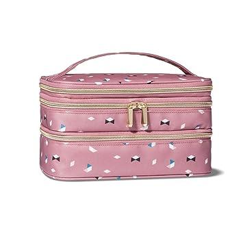 f47a5675b99f Amazon.com   Sonia Kashuk Triple Zip Train Case Makeup Bag - Pink   Beauty