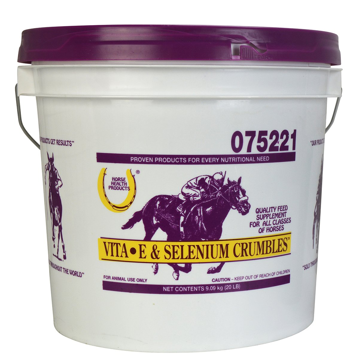 Horse Health Vita-E & Selenium Crumbles Vitamin/Mineral Supplement, 20 lbs