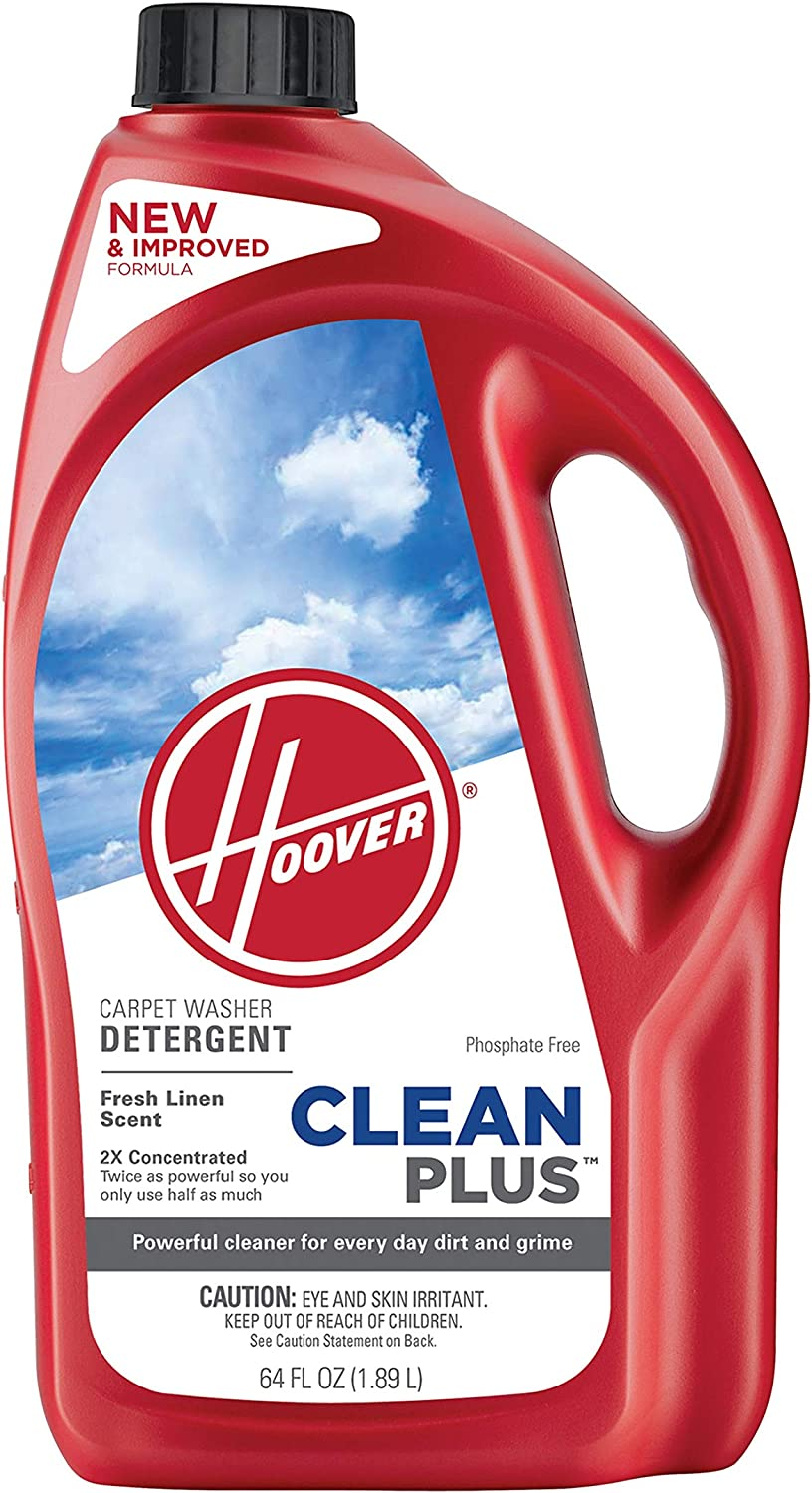 Hoover CleanPlus Concentrated Solution Formula Carpet Cleaner and Deodorizer, 64 oz, AH30330NF, Red, 64 Fl Oz