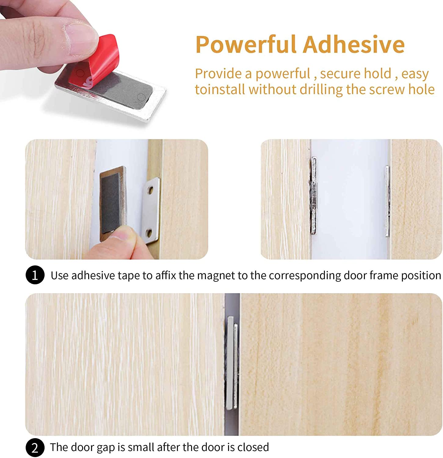 10 Sets Cabinet Door Magnets 10 Pack Ultra Thin Magnetic Door Catch Stainless Steel Drawer Magnet Catch For Sliding Door Closure Kitchen Cabinet Closer Cupboard Closet Hardware Diy Tools Cate Org
