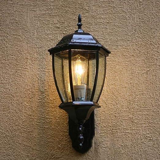 Lámpara de pared decorativa iluminación exterior linterna de pared exterior jardín porche patio garaje lámpara de pared: Amazon.es: Iluminación