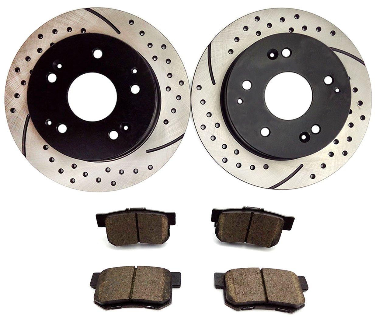 Rear Brake Discs Rotors For 1997-2001 Acura Integra Type R 1998-02 Honda Accord