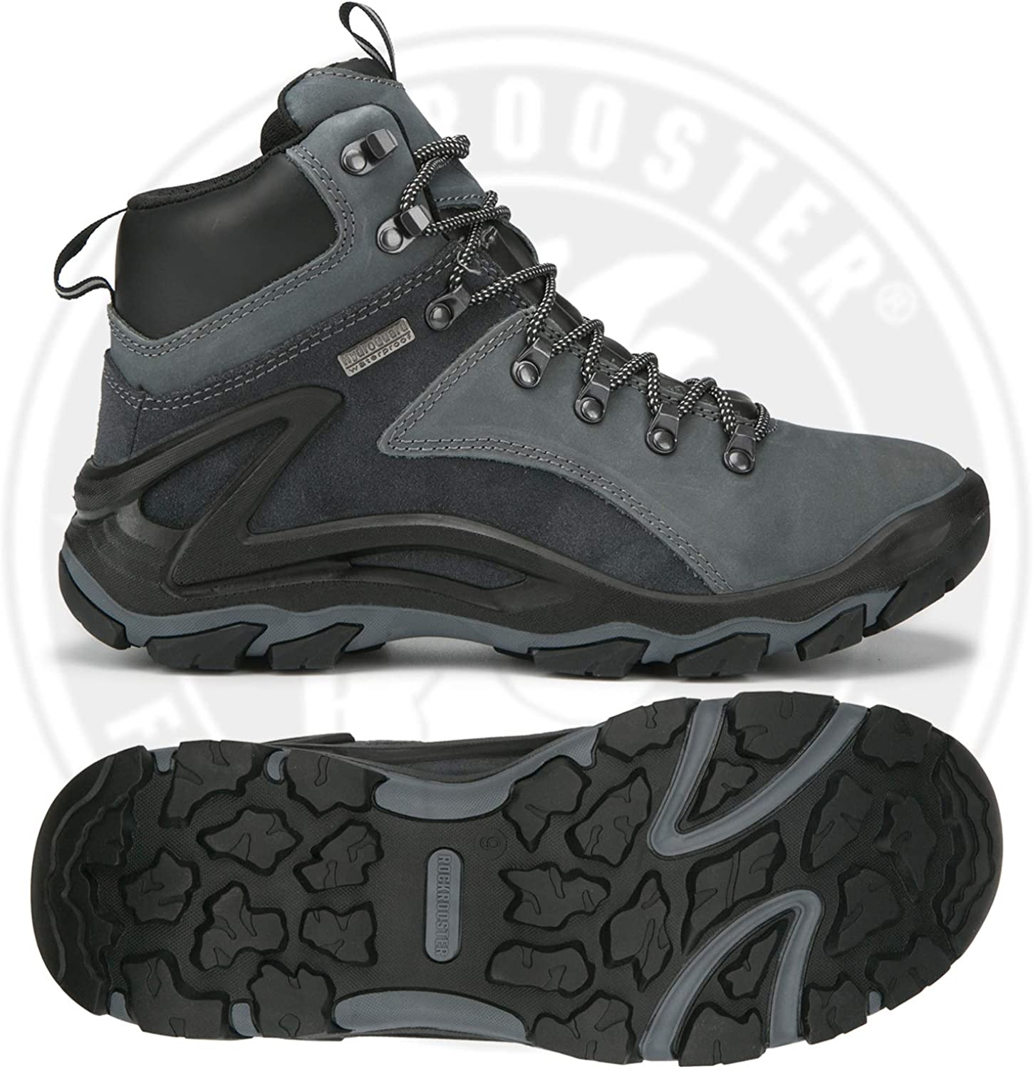 Ankle Anti-Fatigue,KS257 KS258 ROCKROOSTER Mens Hiking Boots Lightweight Coolmax Breathable Waterproof 6 Non Slip Outdoor Mountaineeting Shoes
