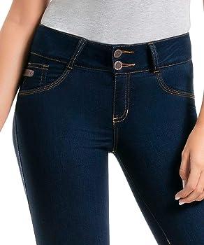 Amazon.com: CYSM – Pantalones vaqueros de mujer colombianos ...