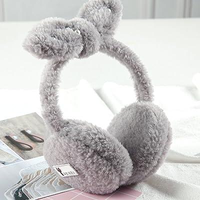 The harvest season- Oreilles de protection d'oreille chaudes oreilles de chat d'hiver Lovely Bow Tie ( Couleur : Gris )