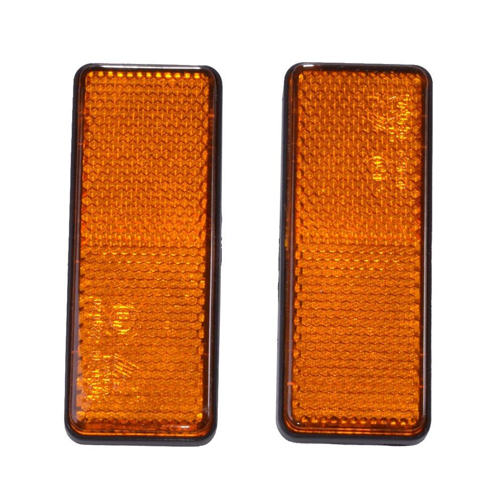 Filmer 36503 Reflector Angular for Adhering, Orange, Set of 2 Diedrich Filmer GmbH