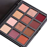 12 Colours Eyeshadow Palette, VALUE MAKERS Shimmer & Matte Eye Palette-Waterproof Neutrals Cosmetics Make Up Tools Kit