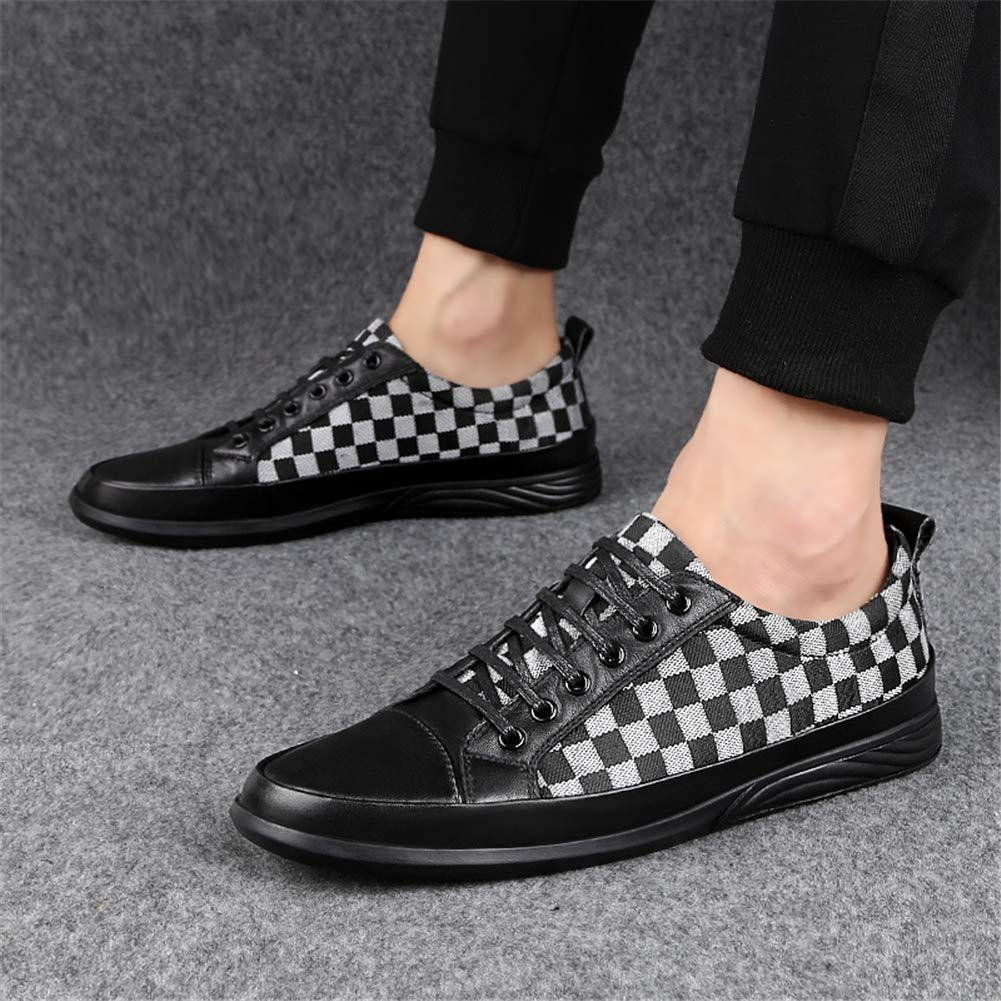 Men es es es Casual schuhe Spring & Fall Fashion Leder Toe Cap Cap Up Casual schuhe Low-top Turnschuhe Training schuhe Office & Career,D,39  0eacb3