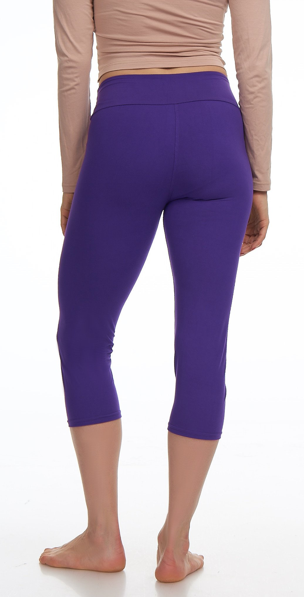 Lush Moda Extra Soft Leggings Variety of ColorsPlus Size Yoga Waist Purple, One Size fits Most (XL 3XL), Purple Yoga Waist by LMB (Image #6)