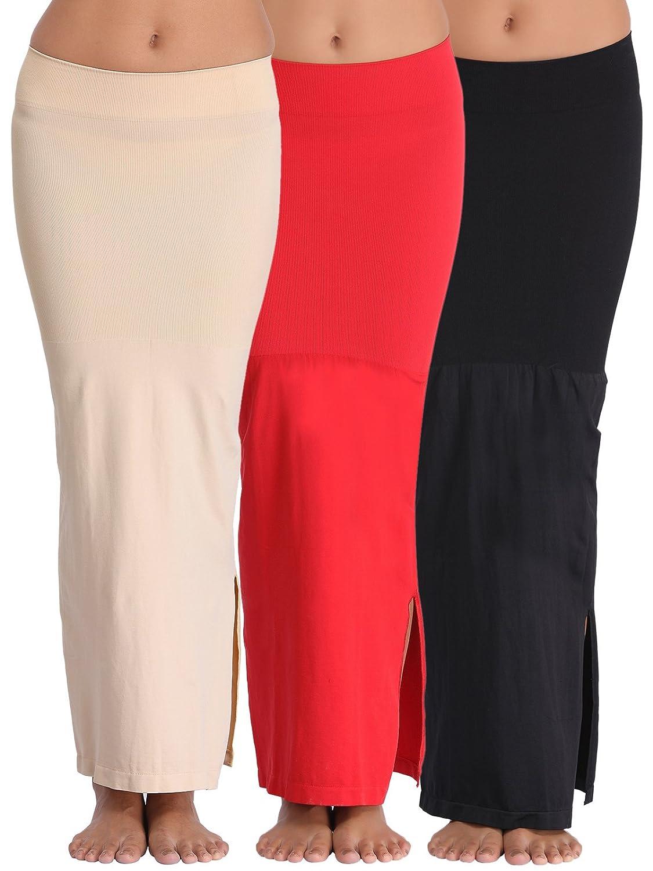 35e55b191c Clovia Women s Pack of 3 Saree Shapewear (SWC023P04 Multi-Coloured XXL)   Amazon.in  Clothing   Accessories