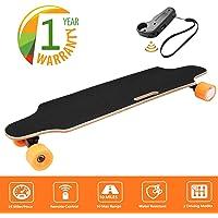 "35.4"" Electric Skateboard 20KM/H Top Speed, 250W Hub-Motor 2.9"" Wheels 7 Layers Maple Longboard with Wireless Remote Controller Waterproof IP54"