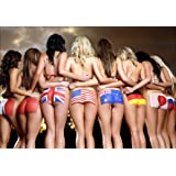 """Hot Sexy Ass Fabric Cloth Rolled Wall Poster Print -- Size: (20"""" x 13"""")"""