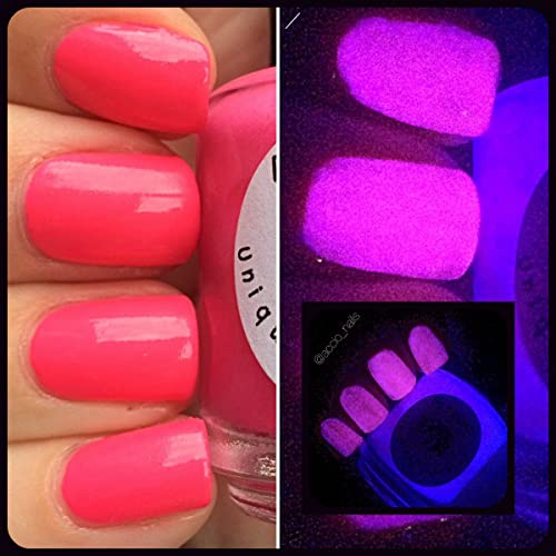 Amazon.com  Glow-in-the-Dark Nail Polish - Pink Glows Purple - SHOOTING STAR  - Custom Blended Nail Polish - FREE SHIPPING  Handmade ca0d74f547bf