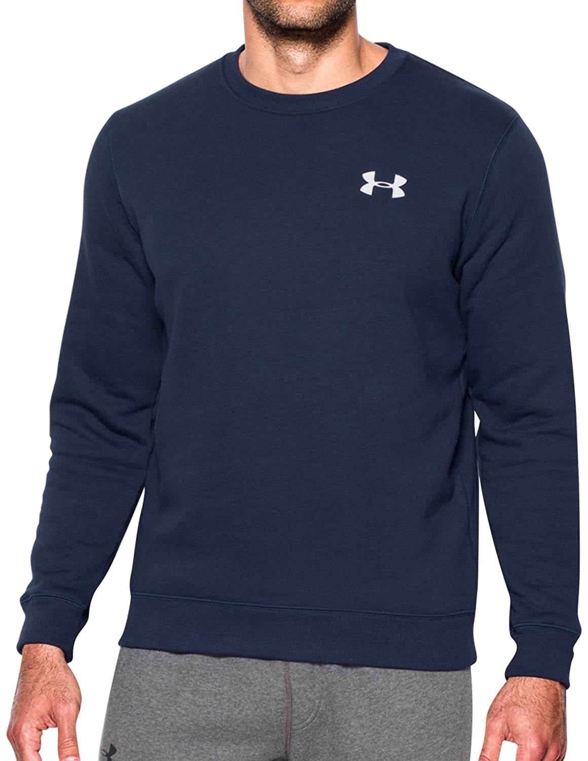 Under Armour Rival Solid Fitted Crew Men's Warm-up Top 1302854-001