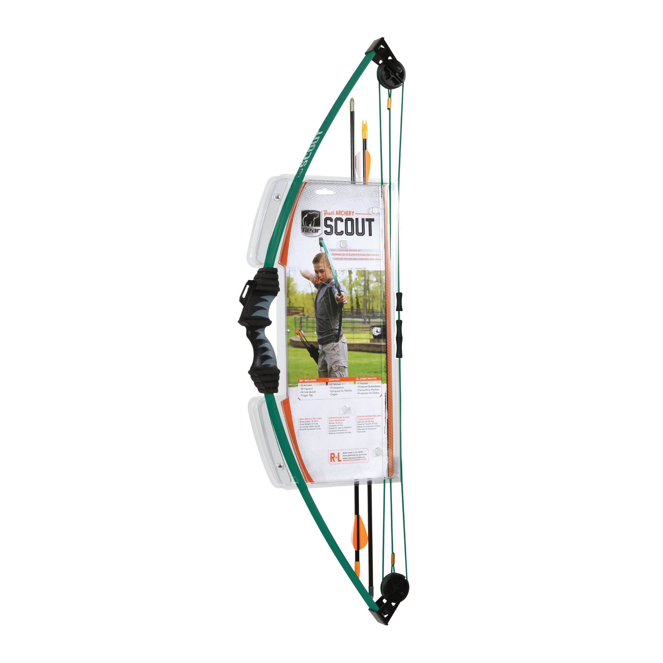 Bear Archery Scout Youth Bow Only - Hunter Green - Recommended for Children 4 to 7 Years Old by Bear Archery