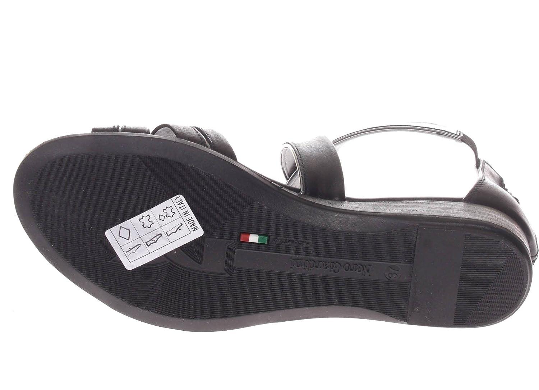 Nero Giardini Donna P805640D P805640D P805640D 100 Sandalo Fasce Incrociate in Pelle Nero 6cb505