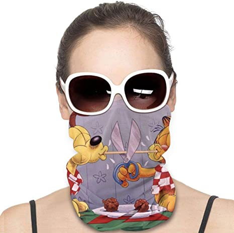 Huhaocz Garfield Sports Riding Mask Headwear Face Scarf Cover Unisex Outdoor Headband Turban Neck Windproof Case Sun Protection Seamless Bandana 50 X 25 Cm Amazon Co Uk Sports Outdoors