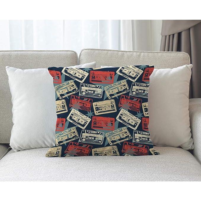 Animal Pattern Cushion Cover Fashion Printing Home Sofa Decoration Pillow Bat Bulldog Sleeve Pillow 45x45cm Square Pillow Sleeve Home Textile Home & Garden
