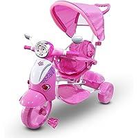 Tricycle poussette à pédales LT854 pour enfants SPECIAL lecteur Mp3 et capot - Rose
