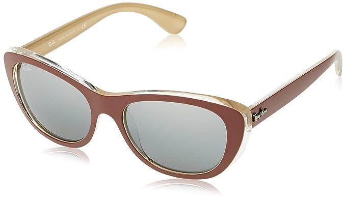 RAY-BAN 0RB4227 Gafas de Sol, Top Mat Brown On Ocra, 55 para Mujer