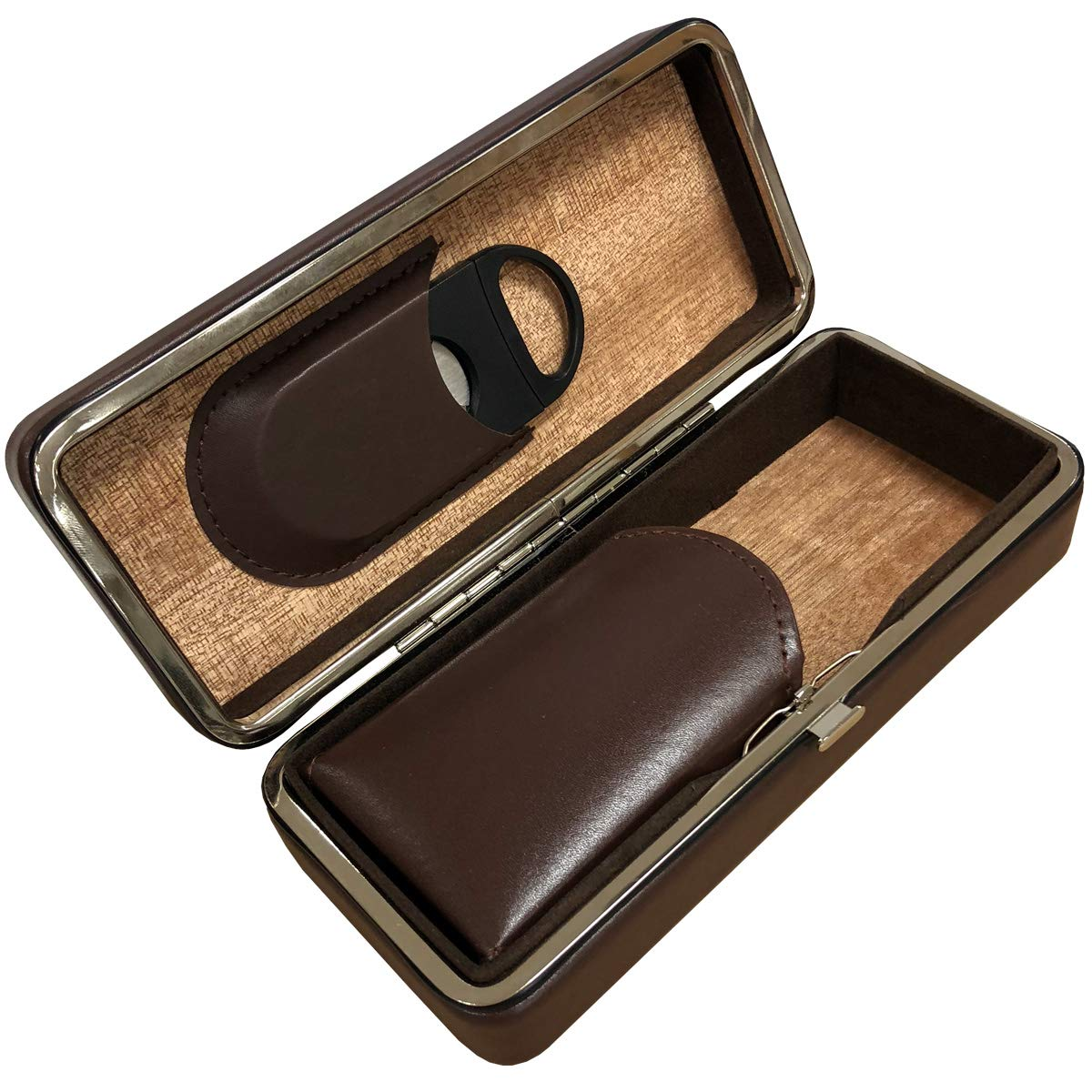 Prestige Import Group - 3 Cigar Folding Travel Case - Color: Brown