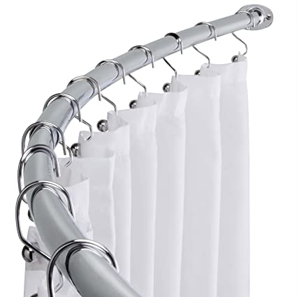 Image Unavailable Not Available For Color Bathroom Stainless Steel Curved Shower Curtain Rod