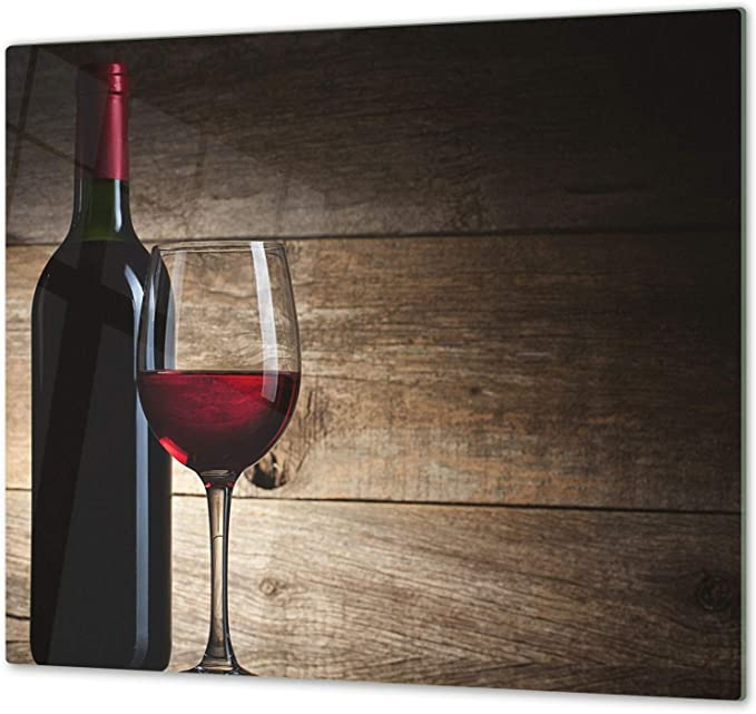 "Glass Cutting Board; MEASURES 23,62/"" x 20,47/""; DOUBLE 11,81/"" x 20,47/""; D04 Drinks Series Chopping Board SINGLE wine 15 Induction Cooktop Cover"