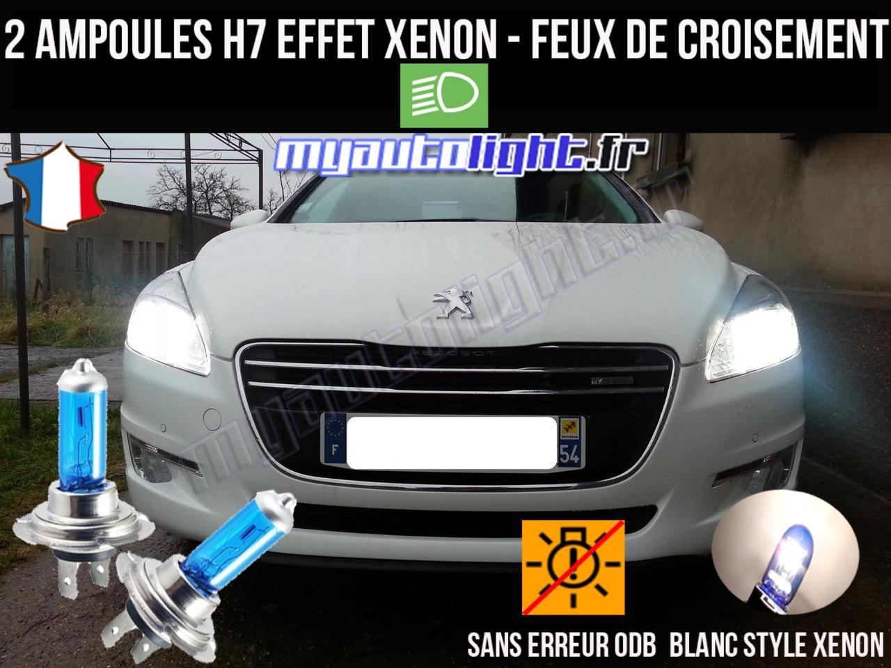 Pack Bombillas H7 blanco Xenon luz croisement-code para Peugeot 508: Amazon.es: Coche y moto