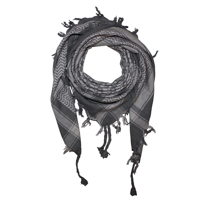 Superfreak® Pañuelo pali de dos colores especial°chal PLO°100×100 cm°Pañuelo palestino Arafat°100% algodón – gris/beige
