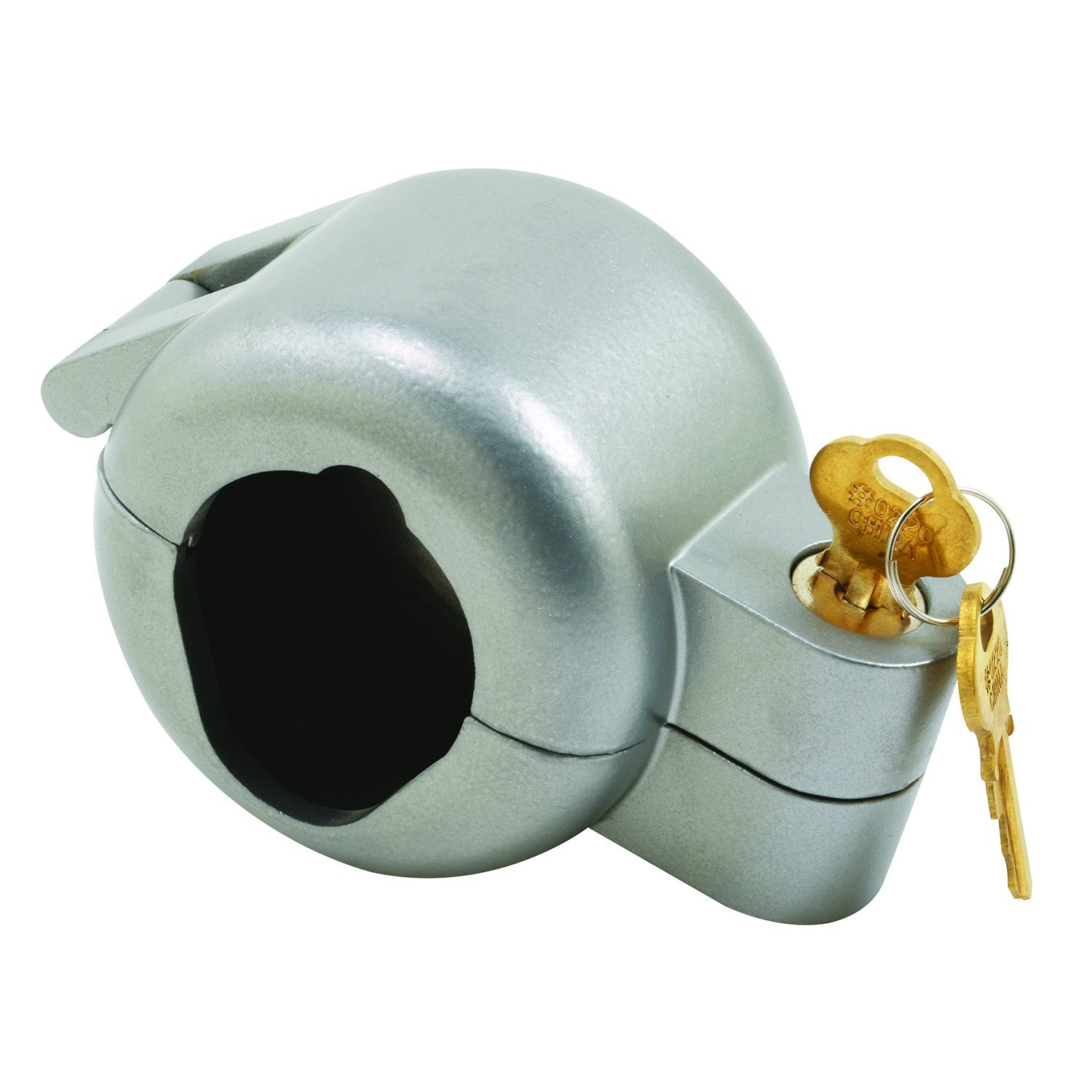 Prime-Line Products EP 4180 Door Knob Lock-Out Device, Diecast Construction, Gray Painted Color, Keyed Alike