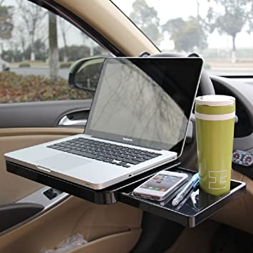 Car Laptop Computer Table Desk Stand In Car Table Steering Wheel Food Tray GT