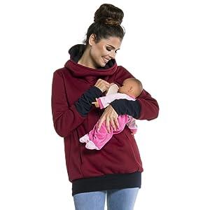 Zeta Ville - Sweat-shirt allaitement maternité détails contraste - femme - 330c