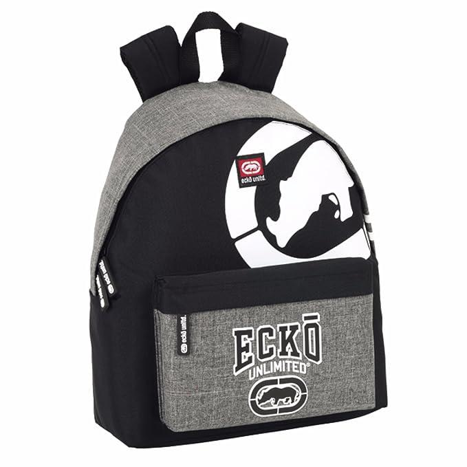 Ecko Unlimited - Mochila oficial de Ecko Unlimited para niños (Talla Única/Gris/