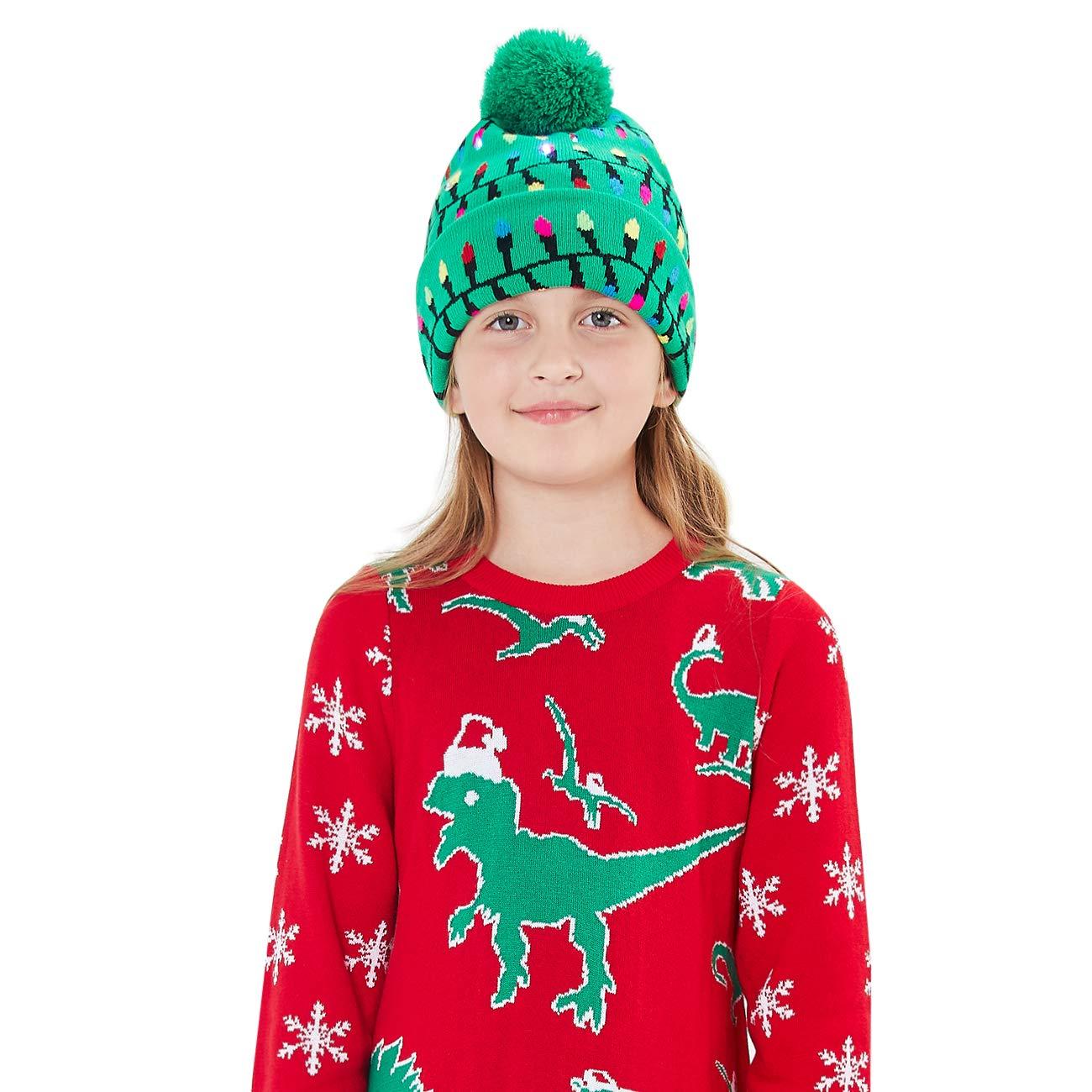 chicolife Lustige Strickm/ütze Beanie Cap f/ür Damen Herren Jungen M/ädchen Weihnachten Familie Party//Tanz//Geburtstag