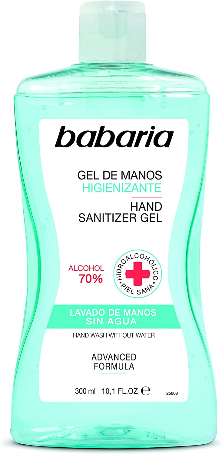 BABARIA HIGIENIZANTE 70% Alcohol Gel DE Manos 300ML hidroalcoholico 300 ml, Negro, Estándar, 300