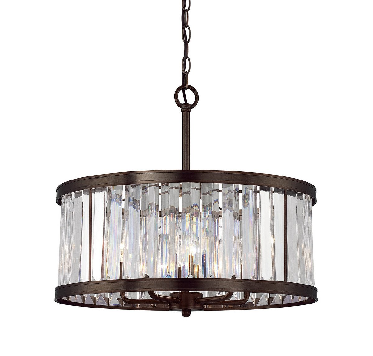Savoy House 7-9809-5-28 Tierney 5-Light Pendant in Burnished Bronze