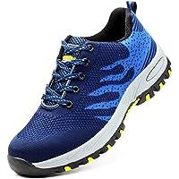 Zapatos de Seguridad para Hombre Zapatillas Zapatos de Mujer Seguridad de Acero Ligeras Calzado de Trabajo para Comodas…