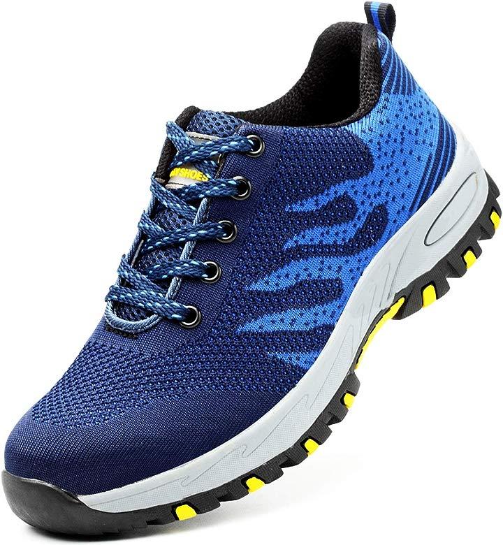 Zapatos de Seguridad Mujer Hombre con Punta de Acero Protección Zapatillas de Trabajo Ligeras Zapatos de Deporte Senderismo para Industria Verano al ...