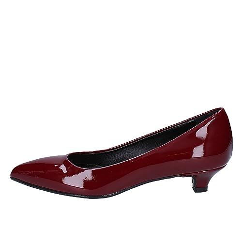 Mujer Rubini Olga Charol Amazon Zapatos es Salón Borgoña De daxvwI